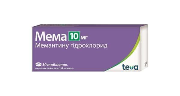 Mema (memantine harehare) coated tablets 10 mg. №30