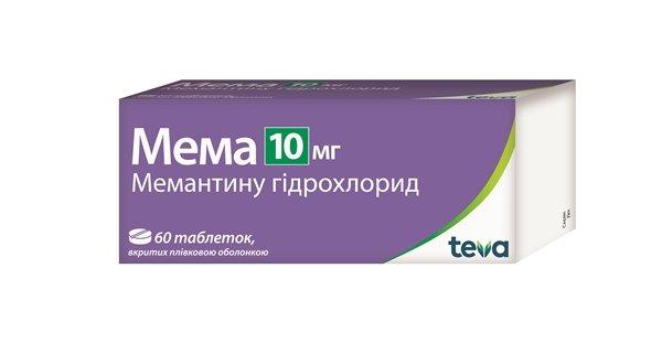 Mema (memantine harehare) coated tablets 10 mg. №60