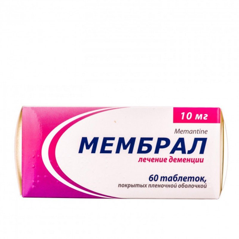 Membral (memantine) coated tablets 10 mg. №60