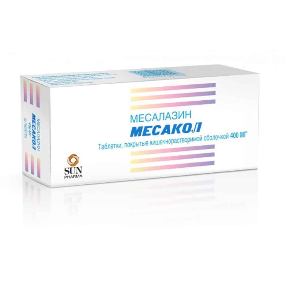 Mesacol (mesalazine) coated enteric tablets 400 mg. №50