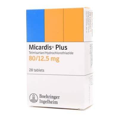 Micardis Plus (telmisartan) tablets 80 mg/12.5 mg. №28