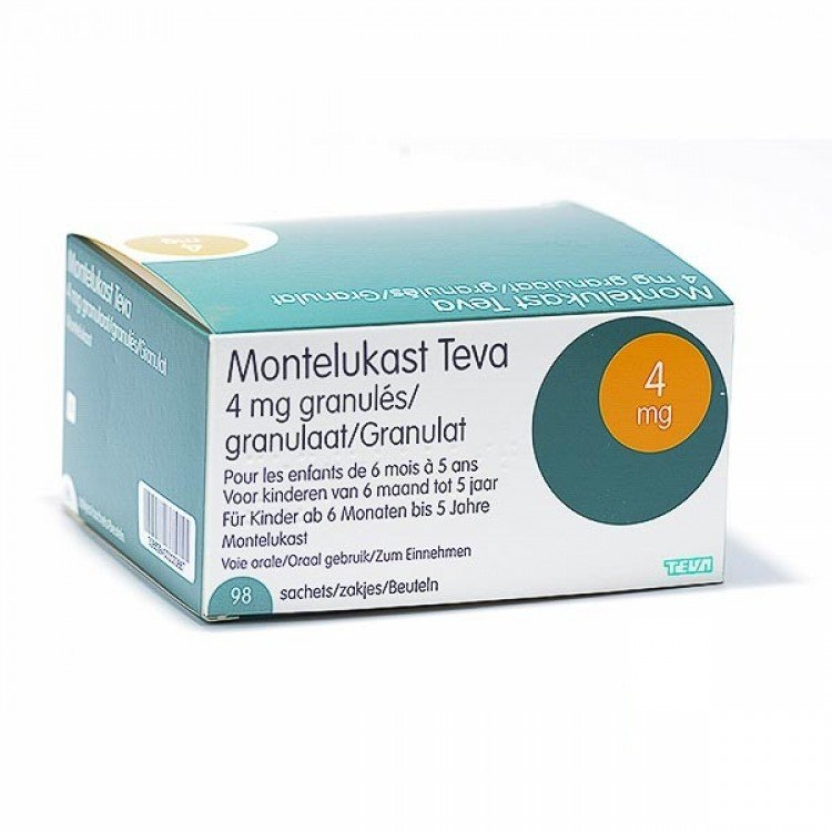 Montelucast-TEVA (montelukast sodium) chewing tablets 4 mg. №28