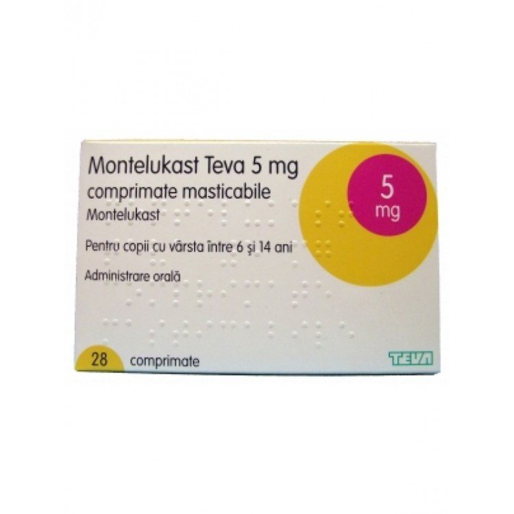 Montelucast-TEVA (montelukast sodium) chewing tablets 5 mg. №28