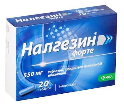 Nalgezin (naproxen sodium) forte coated tablets 550 mg. №20
