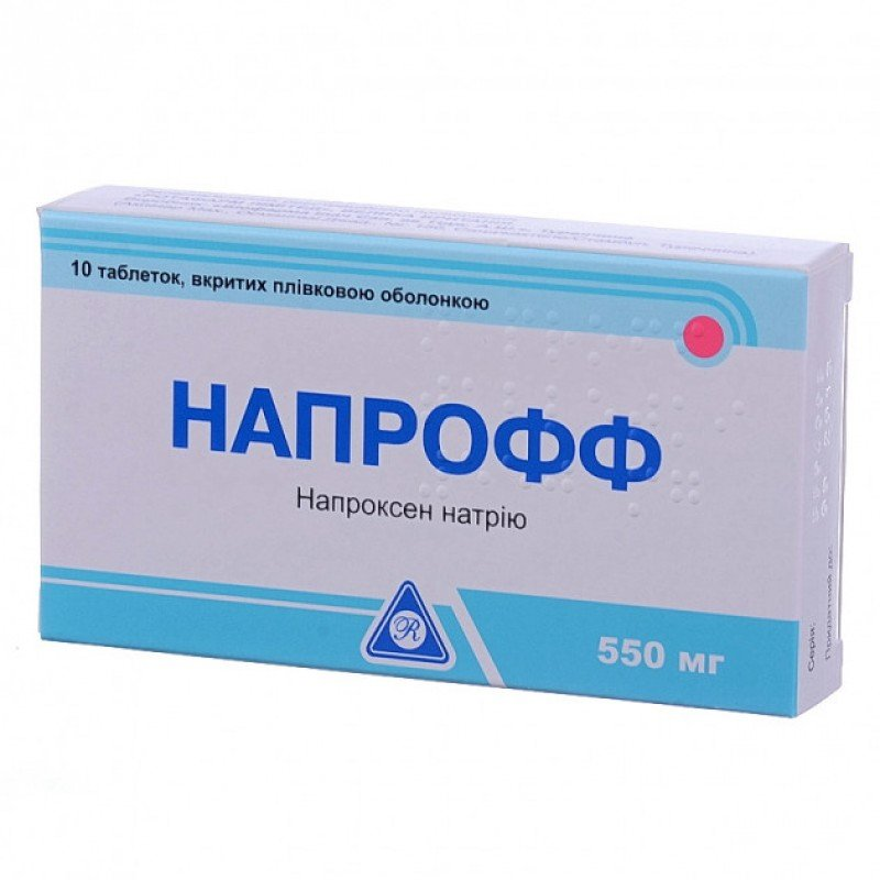 Naproff (naproxen) coated tablets 550 mg. №10