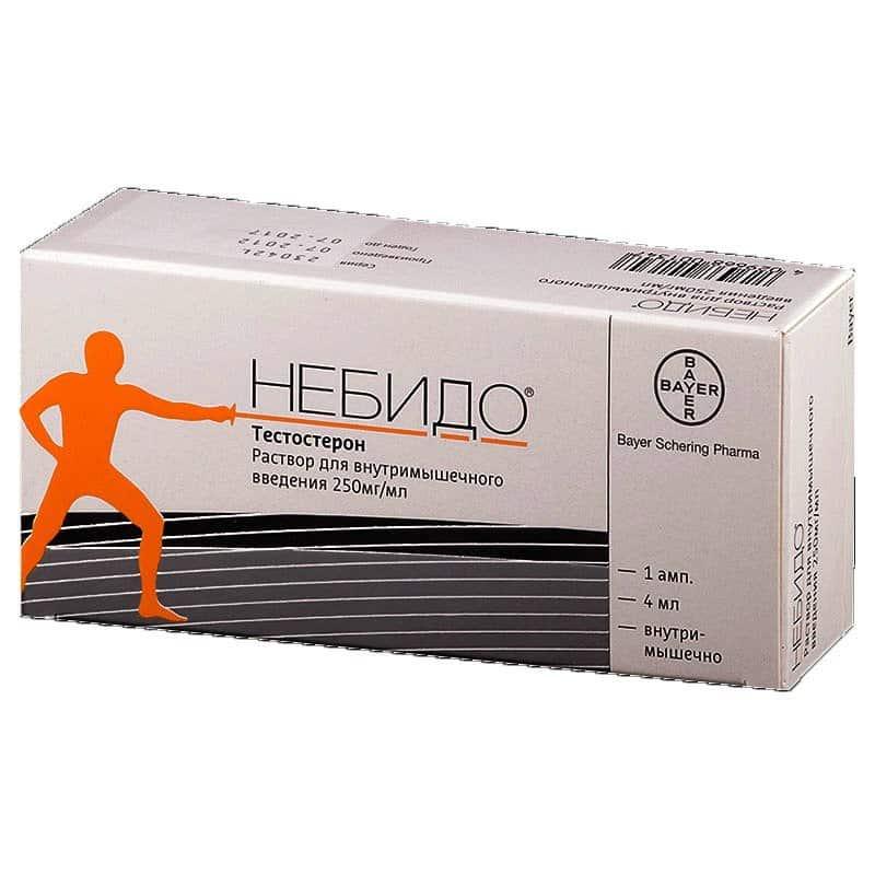 Nebido (testosterone undecanoate) solution for intramuscular inj. 250 mg/ml. 4 ml. №1 vial
