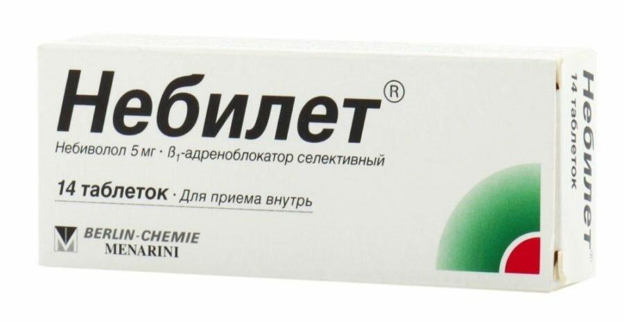 Nebilet (nebivolol hydrochloride) tablets 5 mg. №14