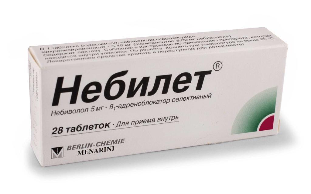 Nebilet (nebivolol hydrochloride) tablets 5 mg. №28