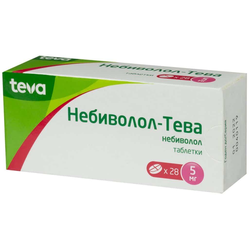 Nebivolol-TEVA (nebivolol) tablets 5 mg. №28