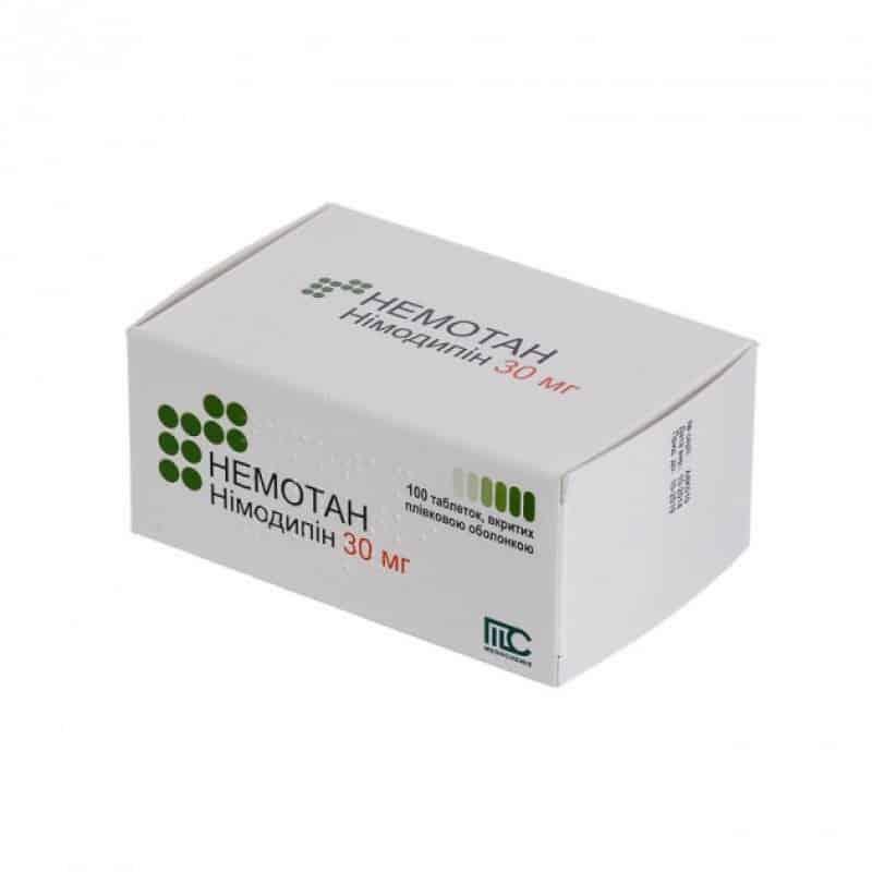 Nemotan (nimodipine) coated tablets 30 mg. №100