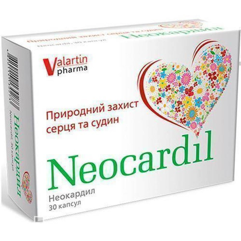 Neocardil (dry extract of hawthorn flowers and leaves) capsules №30