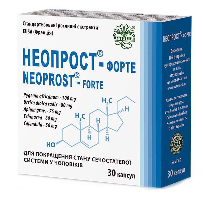 Neoprost (pygeum africanum / Prunus africanum) forte capsules 400 mg. №30