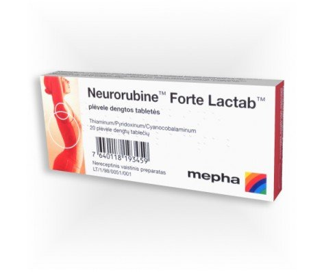 Neurorubin-forte (hiamine hydrochloride) lactab coated tablets №20