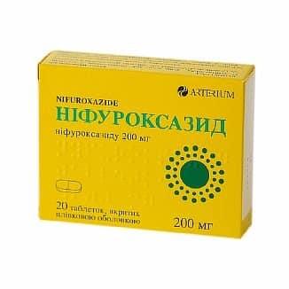 Nifuroxazid (nifuroxazide) coated tablets 200 mg. №20