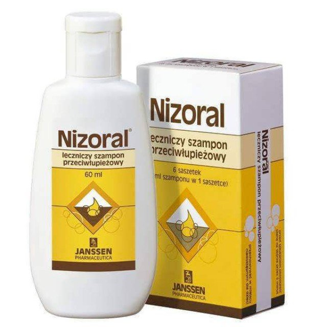 Nizoral (ketoconazole) shampoo 2% 60 ml.