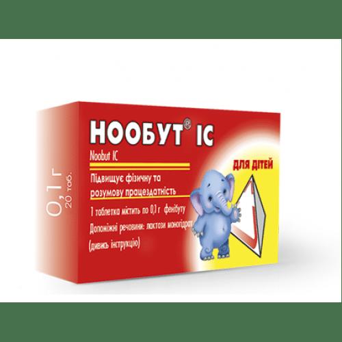 Noobut (fenibut) tablets 0.1 №20