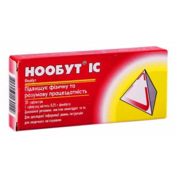 Noobut (fenibut) tablets 0.25 №20