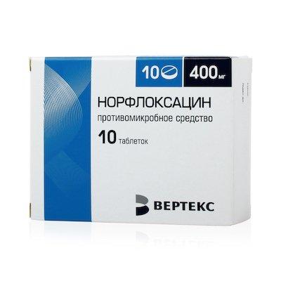 Norfloxacin (norfloxacin) coated tablets 0.4 №10