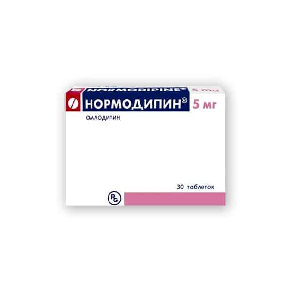 Normodipin (amlodipine) tablets 5 mg. №30