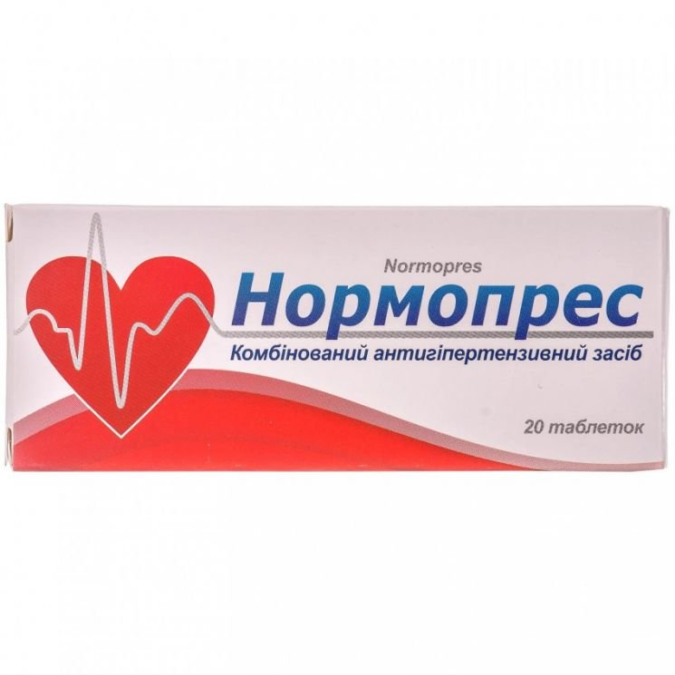 Normopres (captopril, hydrochlorothiazide) tablets №20