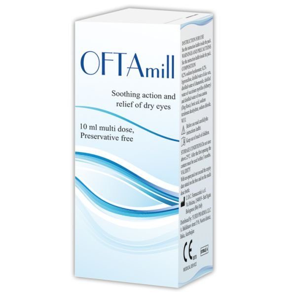 OFTAmil eye drops sterile 10 ml.