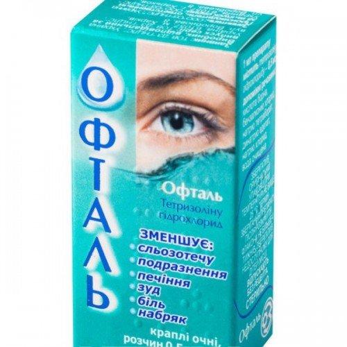 Oftal (tetryzoline) eye drops 0.5 mg/ml. 5 ml. vial