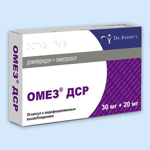 Omez DSR (omeprazole) capsules №30