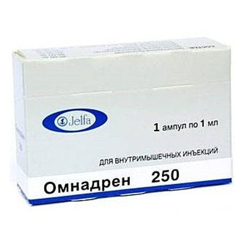 Omnadren-250 (testosterone propionate, testosterone phenylpropionate) solution masl.amp. 1ml. N5