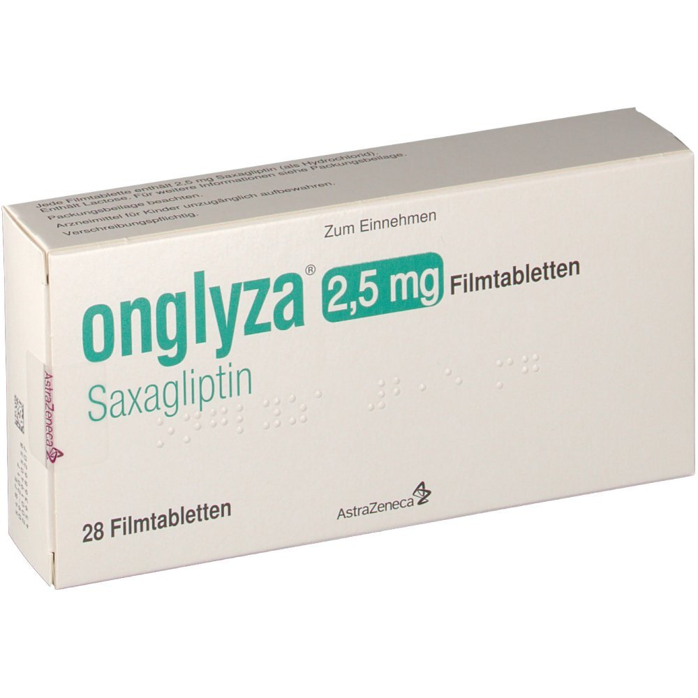 onglyza (saxagliptin) coated tablets 2.5 mg. №30