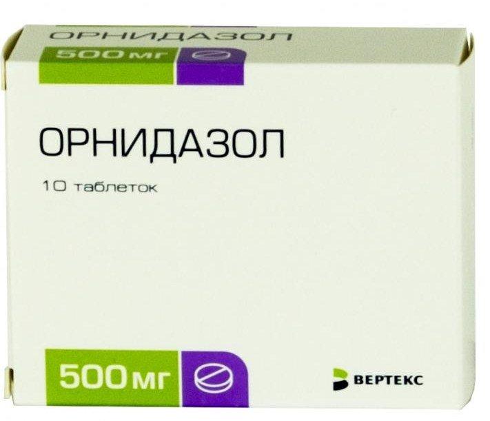 Ornidazol (ornidazol) coated tablets 500 mg. №10