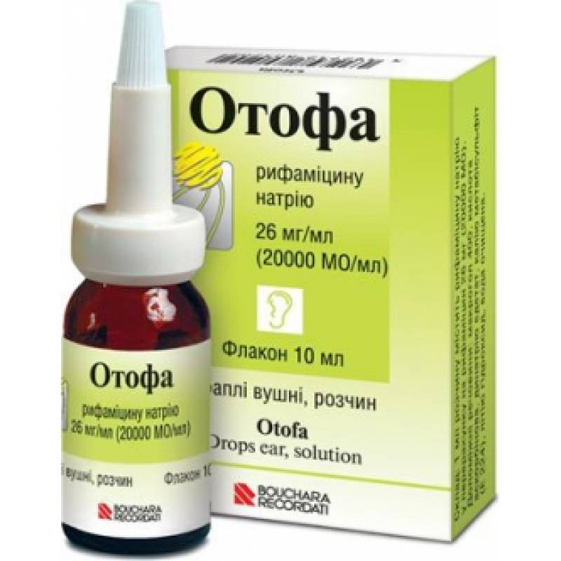 Otofa (rifamycin) ear drops 26 mg. 10 ml.