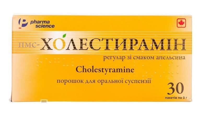 PMS-Cholestiramin (cholestyramine resin) regular powder for oral suspension sackets №30