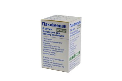 Paclimedak (paclitaxel) concentrate for infusions 6 mg/ml. 50 ml. (300 mg.) №1