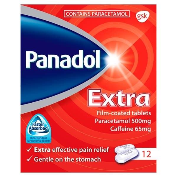 Panadol (paracetamol) extra coated tablets №12