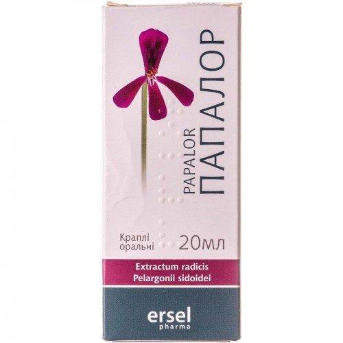 Papalor (Pelargonium sidoides) oral drops 20 ml. №1
