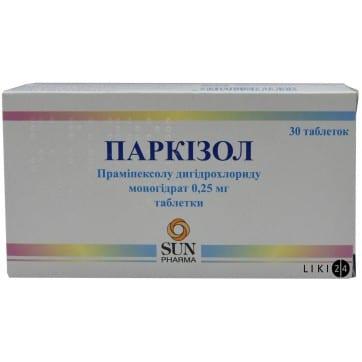 Parcizol (pramipexole dihydrochloride monohydrate) tablets 1 mg. №30