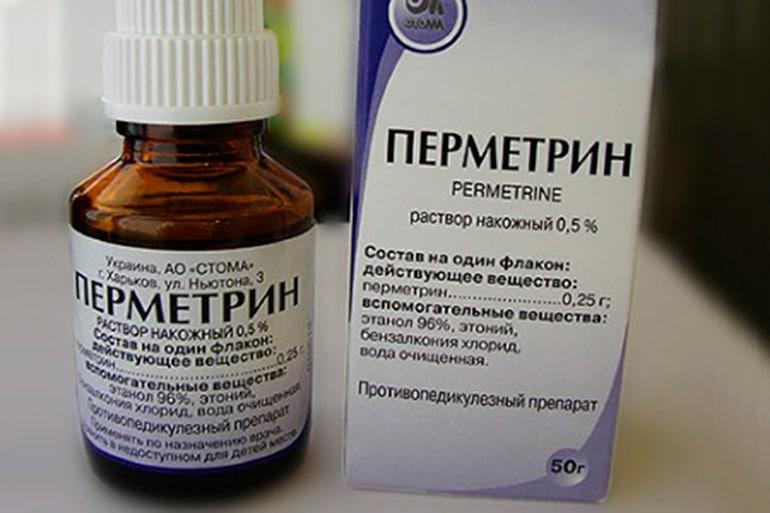 Permetrin (permethrin) solution 0.5% 50 g. vial