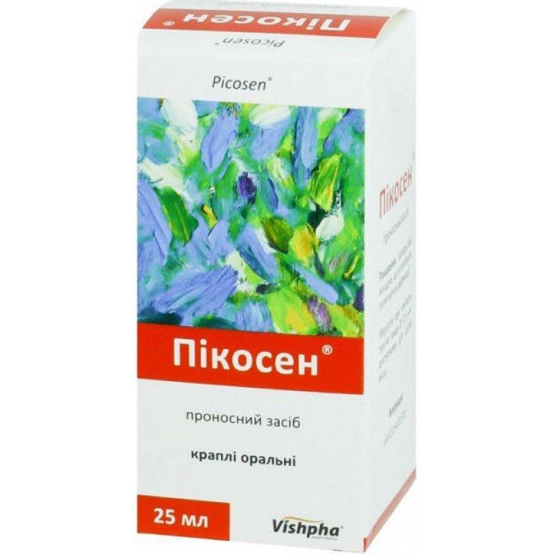 Picosen (Cassiae folium extractum siccum) oral drops 25 ml.