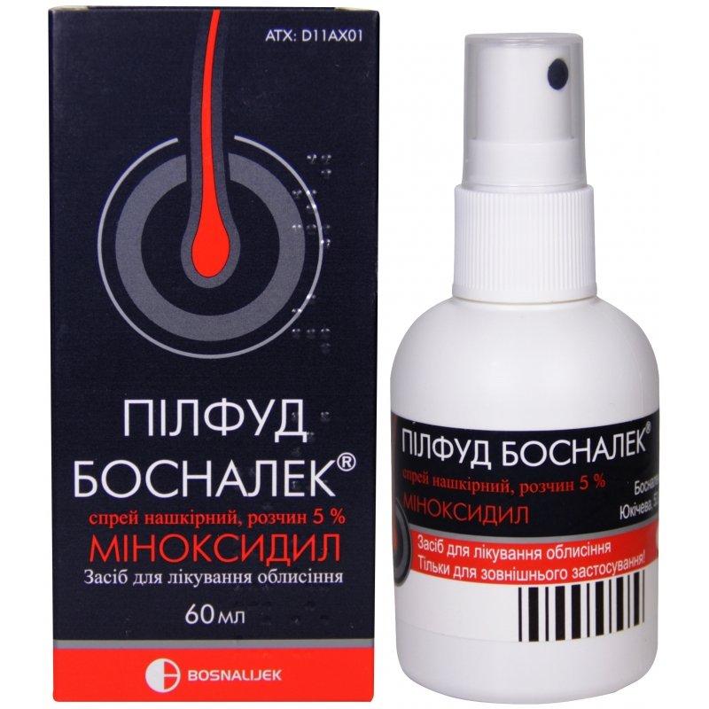 Pilfud Bosnalek (minoxidil) spray solution 5% 60 ml. vial