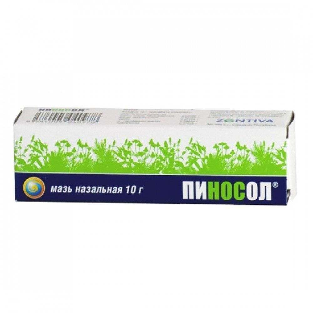 Pinosol (mountain pine oil, mint oil) ointment 10 g. tube
