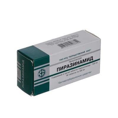 Pirazinamid (pyrazinamide) tablets 500 mg. №50
