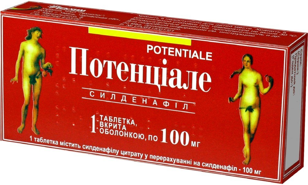 Potenciale (sildenafil citrate) coated tablets 0.1g. №1