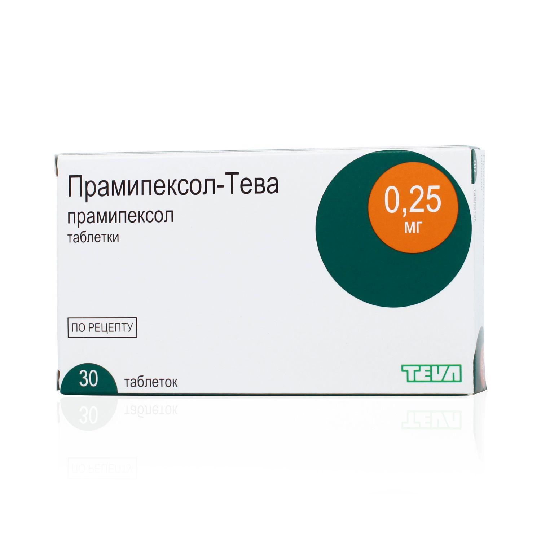 Pramipexol (pramipexole) tablets 0.25 mg. №30