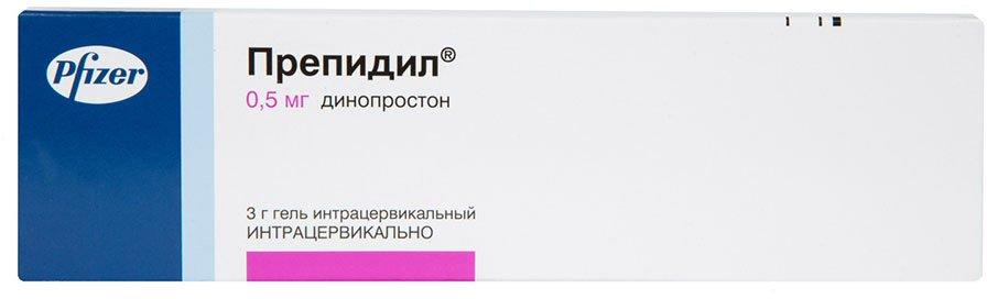 Prepidil (dinoprostone) gel 0.5 mg/3g. syringe 3g. №1