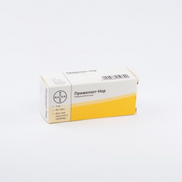 Primoliut-Nor (norethisterone acetate) tablets 5 mg. №60