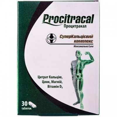 Procitracal (calcium citrate) tablets №30