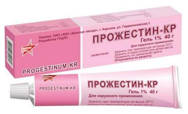 Progestin-CR (progesterone) gel 1% 40 g. tube