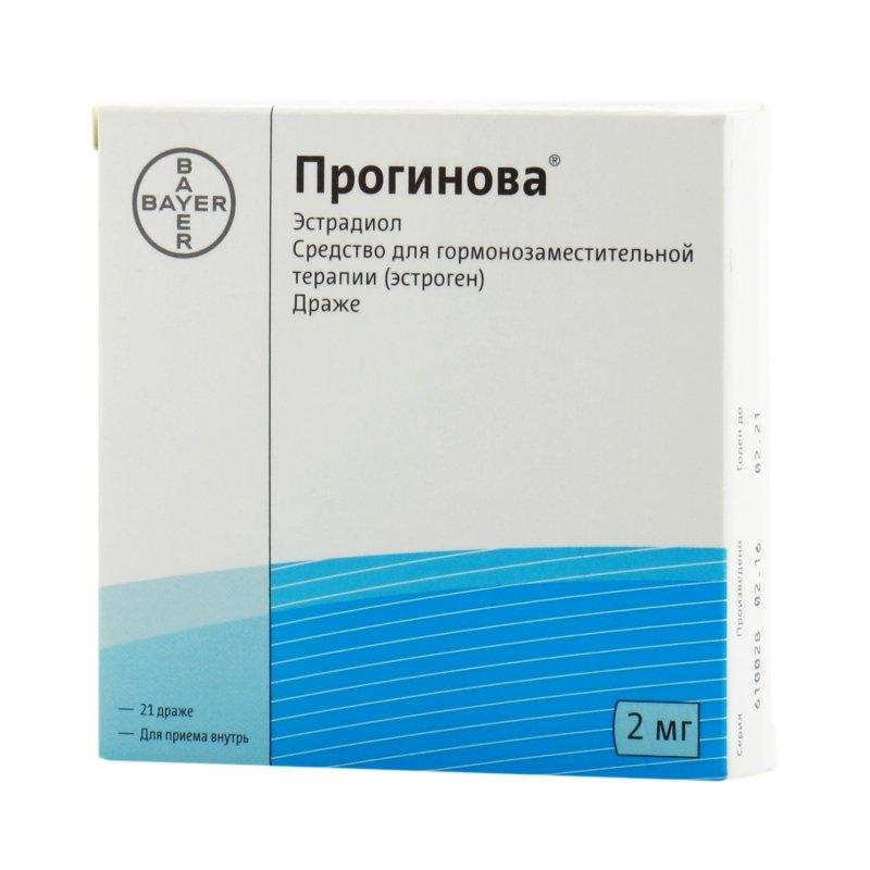 Progynova (estradiola valerate) coated tablets 2 mg. №21
