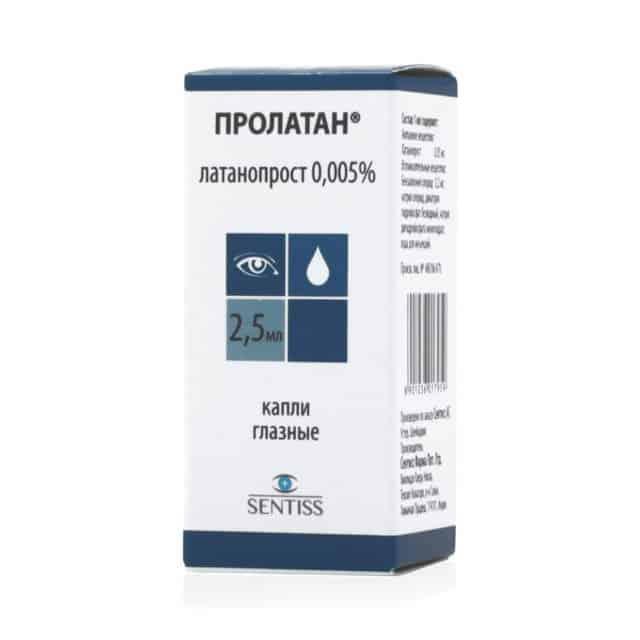 Prolatan (latanoprost) eye drops 0.005% 2.5 ml. vial №1