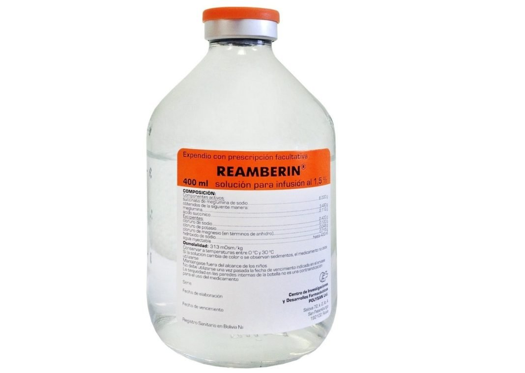 Reamberin (meglumin sodium succinate) solution for infusions 400 ml. vial